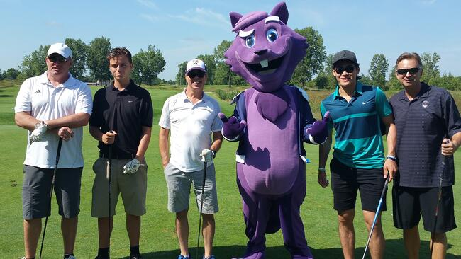The Purple Squirrel at the London Knights Charity Golf Tournament