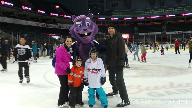 The Purple Squirrel at the Bud Garden Open Skate