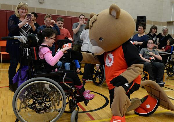 Canadian Paralympic Beaver Mascot