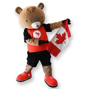 Canadian Paralympic Beaver Mascot - Create by BAM Mascots