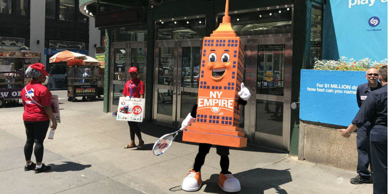 NY Empire mascot
