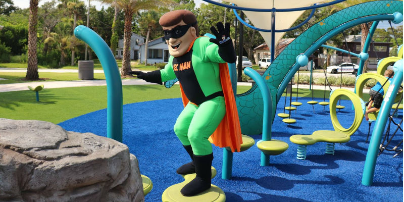 Port Orange Parks and Recreation Department's official mascot, Rec Man