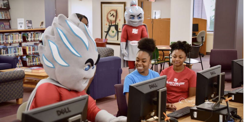 Olivet mascots meeting students for first time
