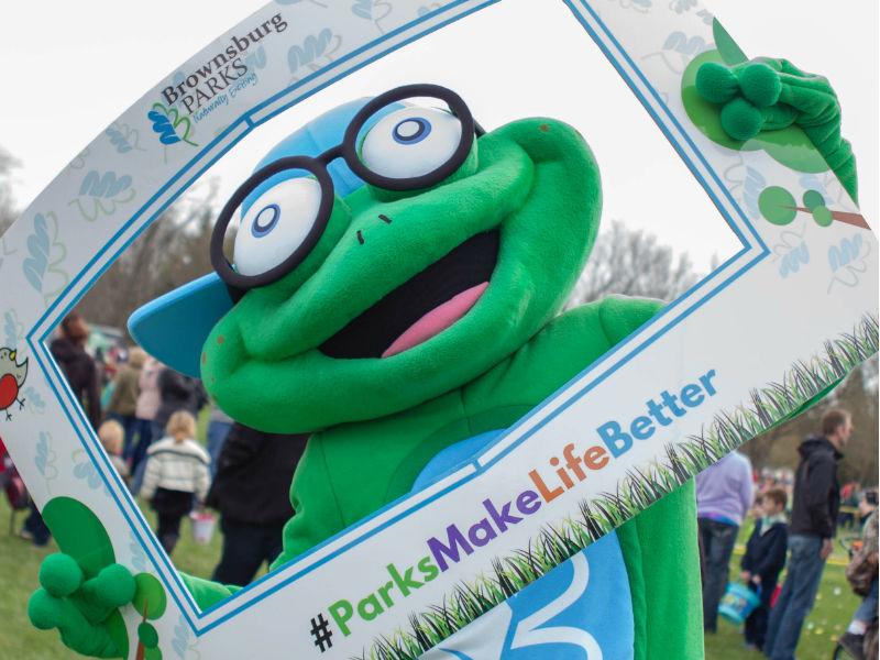Brownsburg Parks Bappy mascot