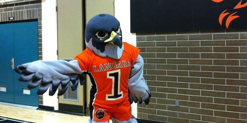 A brand eagle mascot
