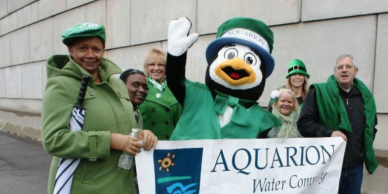 Thirsty, the Aquarion Water Company Penguin mascot