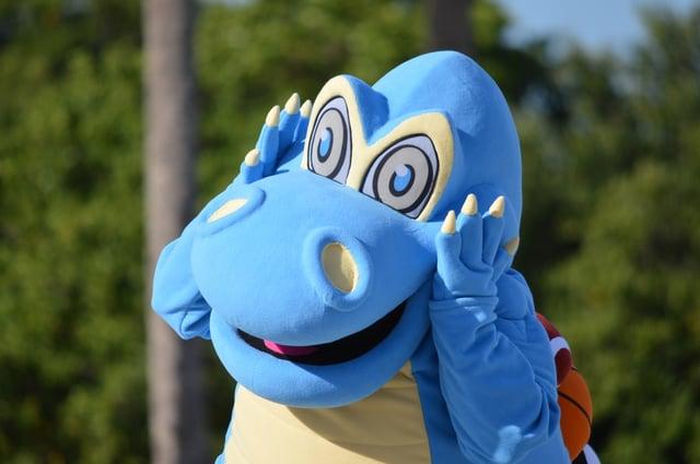 Mascot performing tips