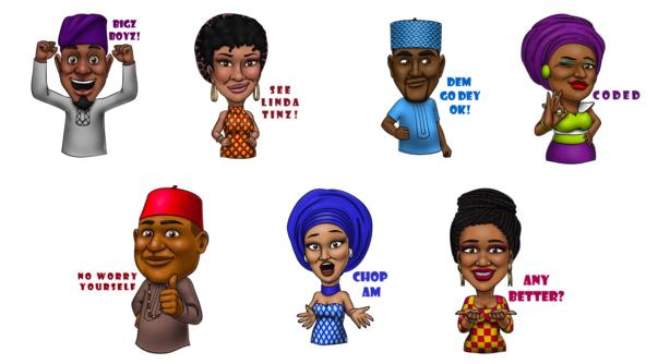 Illustrations for Afro Emoji