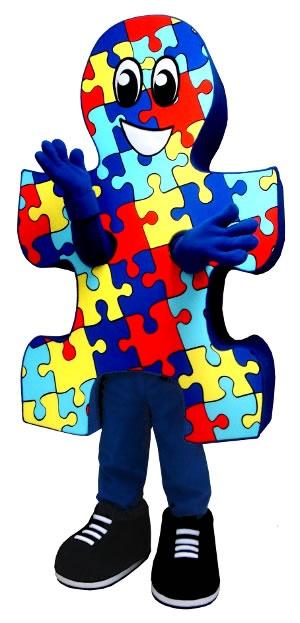 BAM Mascot Designed This Puzzle Piece Costume