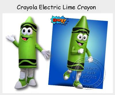 Crayola Electric Lime Crayon Mascot