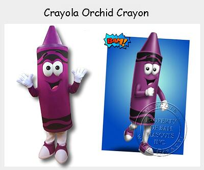 Crayola Orchid Crayon Mascot