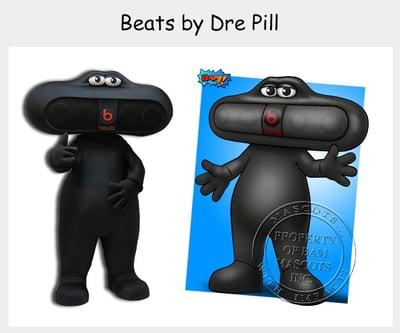 beat-by-dre pill mascot