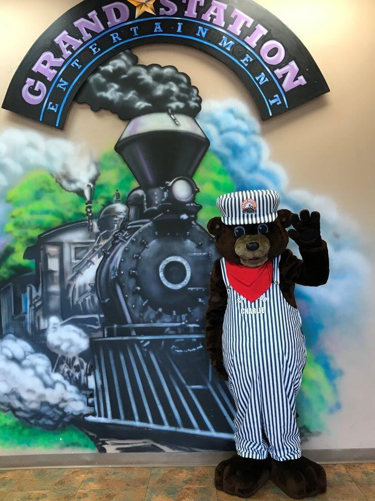 Grand Station's Mascot Choo Choo Charlie