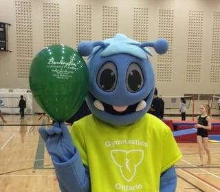 FLIP the Mascot of Gymnastics Ontario