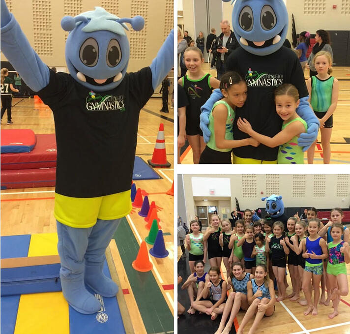 FLIP the Mascot of Gymnastics Ontario at local events
