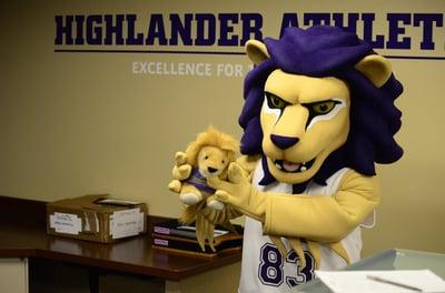 Houghton College HIghlander Custom Lion Mascot
