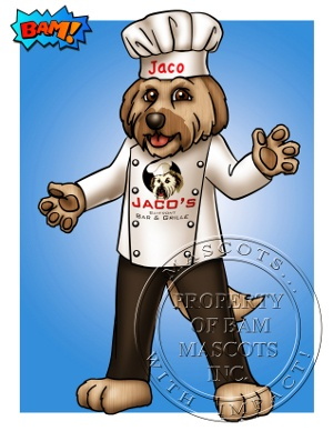 Bam Mascots Jaco the Dog