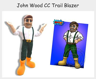 John Wood Trail Blazer Mascot Costume
