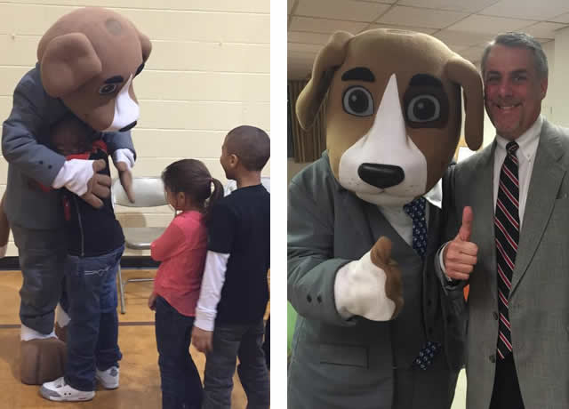 Justice Mascot Reaches out to Kids and Charity Events - custom mascots