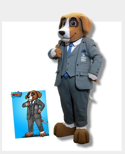 Legal Beagle Custom Mascot Costume
