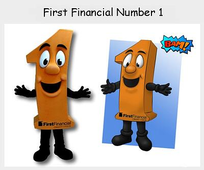 First Financial Number 1 Mascot