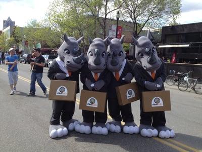 Rhino Mascots At Lilac Festival