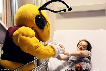 Concordian Buzz visiting Childrens Hospital