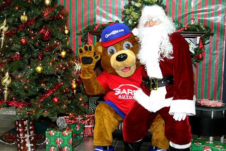 GarBear hanging out with Santa