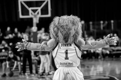 The Niagara River Lions Custom Mascot Dunkin