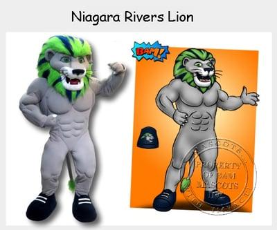 Niagara Rivers Lion Mascot Dunkin
