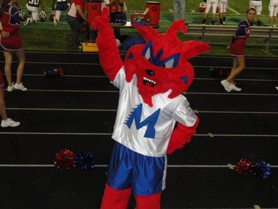Bobcat  mascot cheering