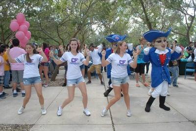 CFF Patriots Mascot dancing
