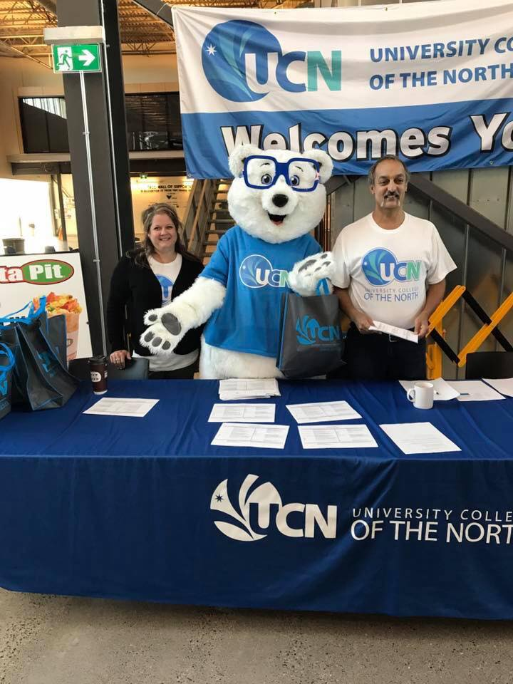 UCN Mascot Peyton Welcoming Students