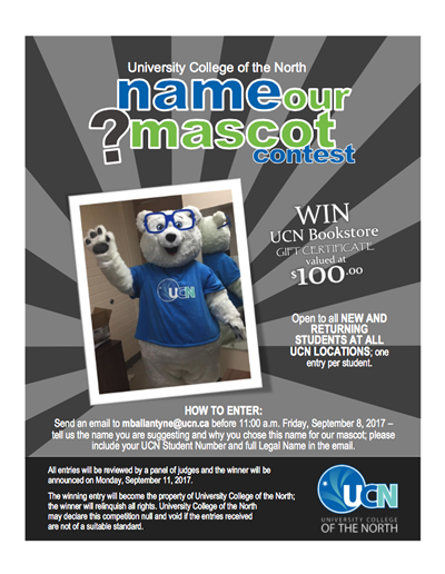 Name a Mascot Contest Poster