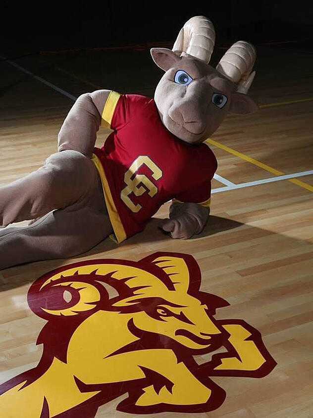 Central Catholic Rammy Posing For a Picture