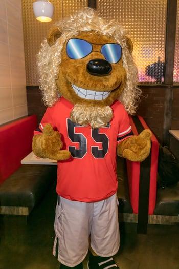 Sammy Hagarr Custom Mascot at Red Rocker Bar & Grill