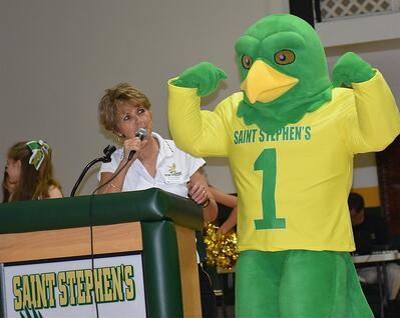 Custom School Freddy Falcon Mascot