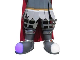 Bokar Bok Custom Mascot showing lighting in feet