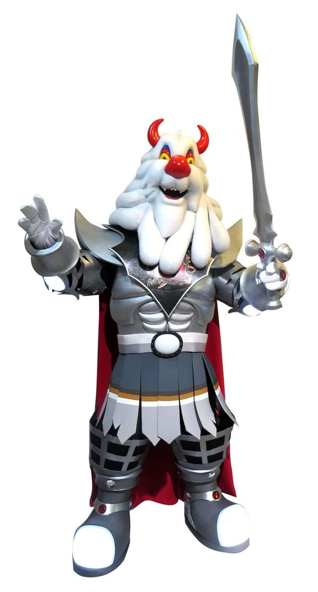 Bokar Bok Mascot, designed for Les Créations R.G. Hemm Inc