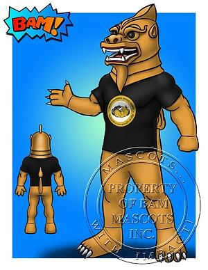 International School Yangon Chinthe Custom Mascot Concept Art