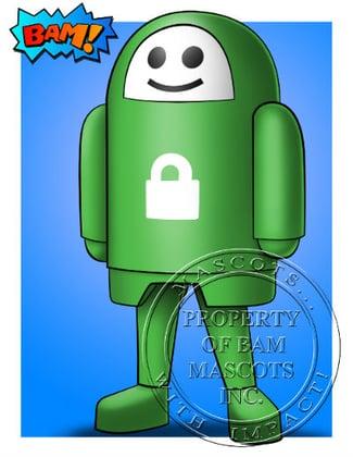 Private Internet Access Robot Mascot Concept Art