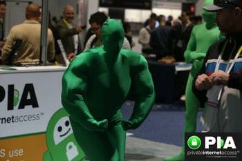 Private Internet Access at CES Convention 2016 Morph Suit Flexing
