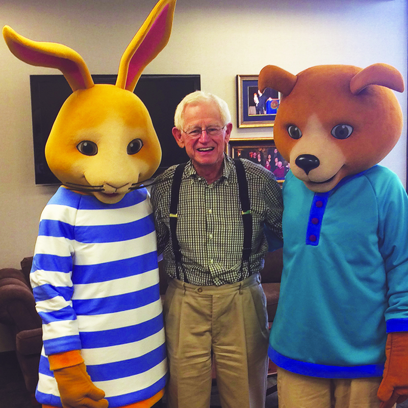 Willy Nilly and thumper with Jim Henry