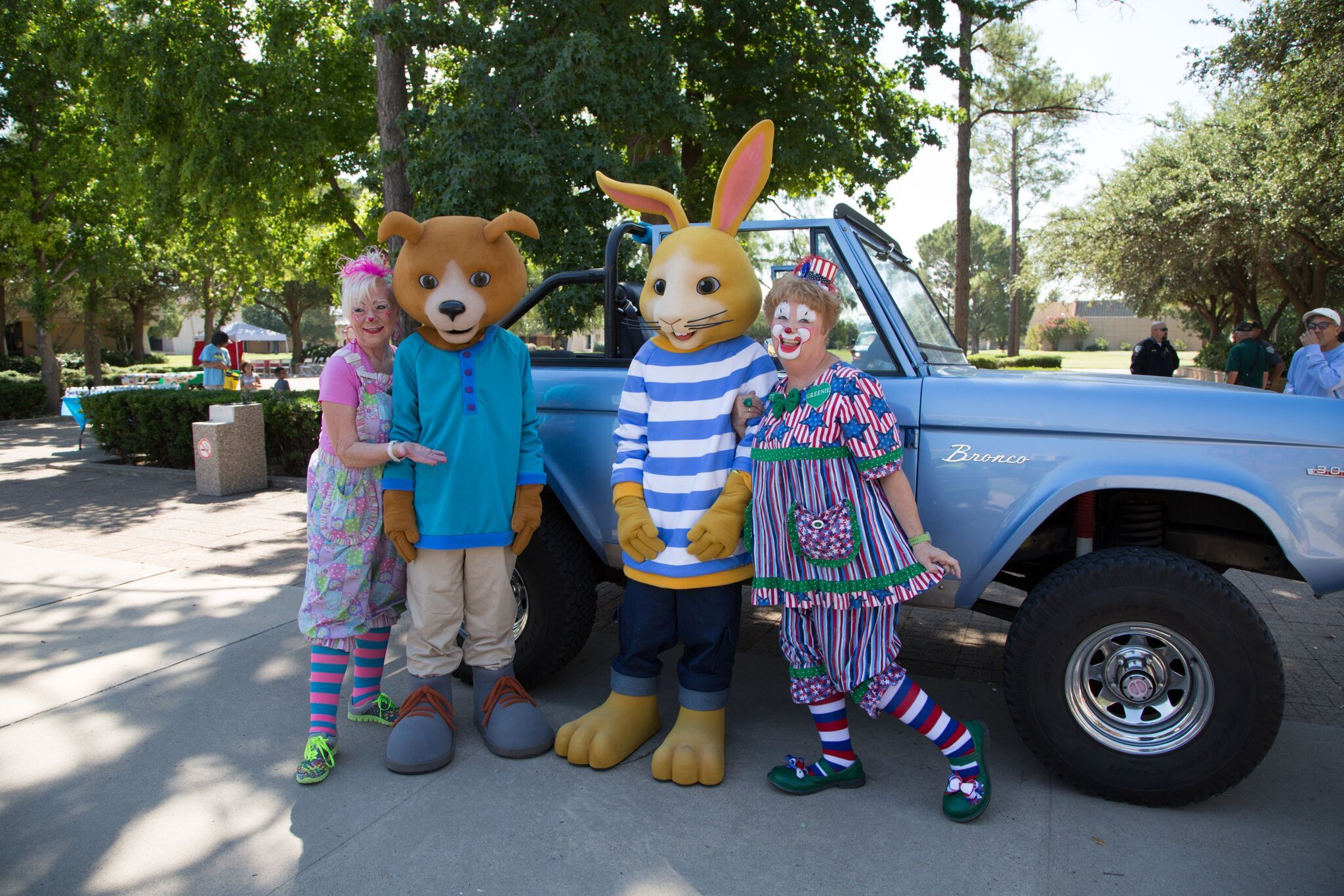 Willy Nilly and Thumper Mascots getting involved with their community