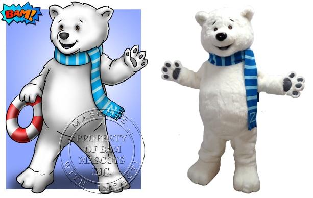 Custom Made Polar Bear Mascot