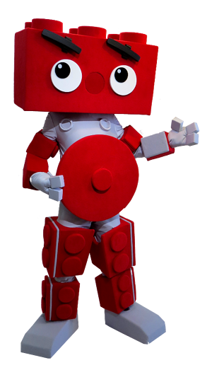 Brikfest Brick Man mascot