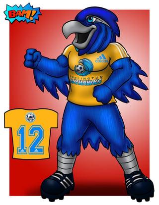 Burlington Bayhawks: How a Mascot Can be a community celebrity
