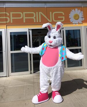 Cataraqui Shopping Centre Easter Bunny mascot