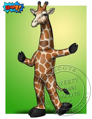 Giraffe Mascot Concept Art
