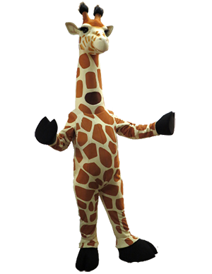 Zoo Giraffe Custom Mascot Costume